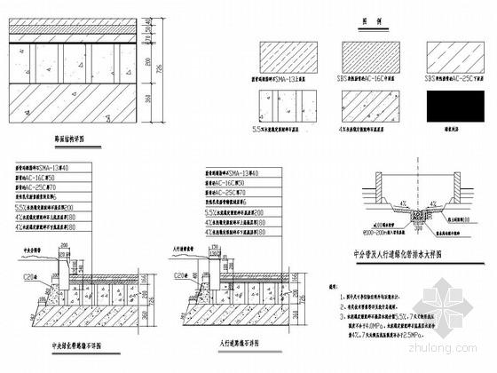 [重庆]城市主干路道路工程施工图设计65张