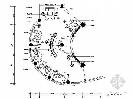 [南通]休闲舒适五星级酒店大堂吧CAD施工图