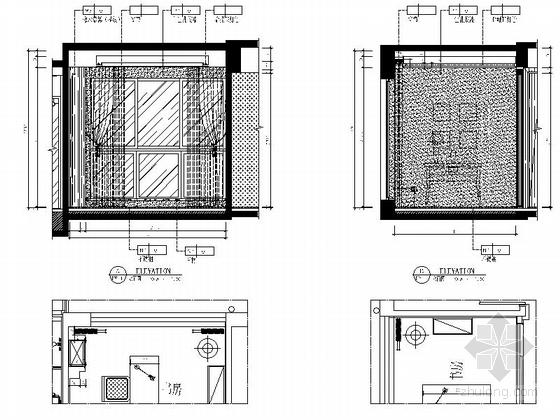 [湖北]现代风三居室样板间室内装修图(含效果) 立面