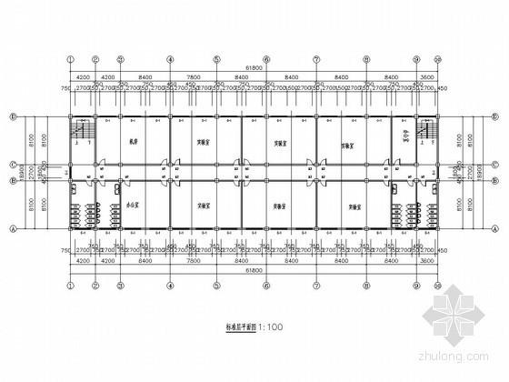 [学士]五层框架结构中学实验楼毕业设计(含建筑图 结构图 计算书)