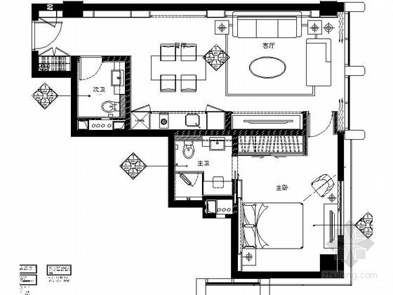 [浙江]欧式品质商务酒店客房样板间室内施工图(含效果图)