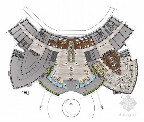 [广东]旅游产业园五星级豪华现代酒店室内设计方案(含汇报提纲)
