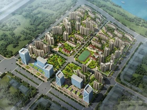 [广西]高档居住区规划及周边商业办公建筑设计方案文本