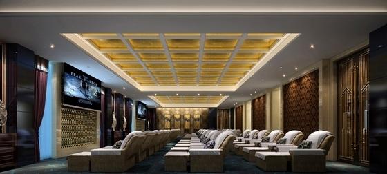 [江苏]典雅休闲花园式酒店附楼休息大厅室内施工图(含效果)休息大厅效果图