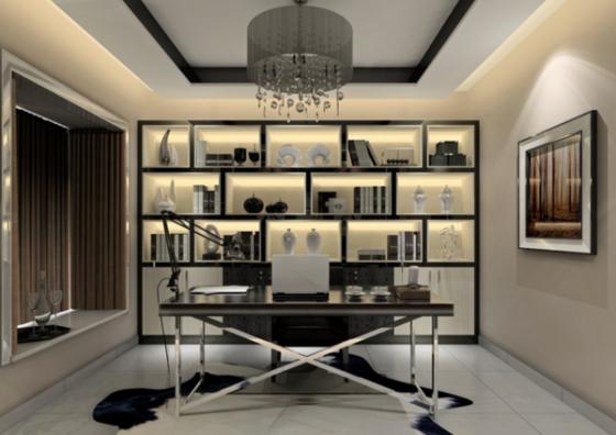 上海装修:现代简约风格书房装修设计特点