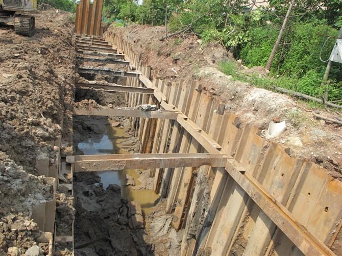 路桥工程基坑施工中钢板桩支护技术