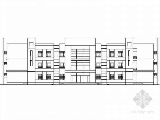 某中学三层32班教学楼建筑方案图