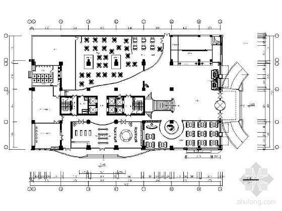 某星级酒店一至五层平面设计图