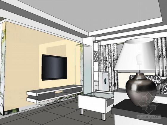 现代风格家居室内场景sketchup模型下载