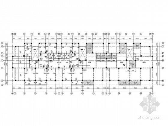 五层框架、坡屋顶、弹性地基梁住宅结构施工图(含建施)