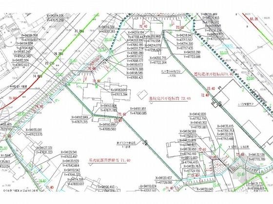[湖南]10米深基坑复合土钉墙及护壁桩施工图
