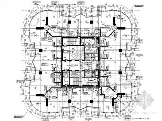 [江西]超高层办公楼空调防排烟及人防工程施工图(系统图多 详图多)