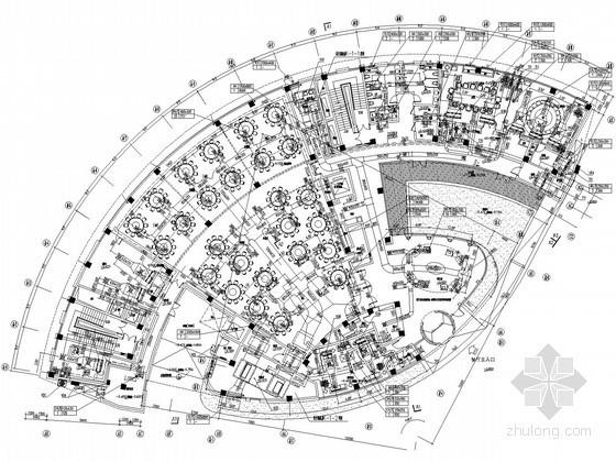 [上海]精品酒店空调通风设计施工图(风冷热泵 大院图纸)