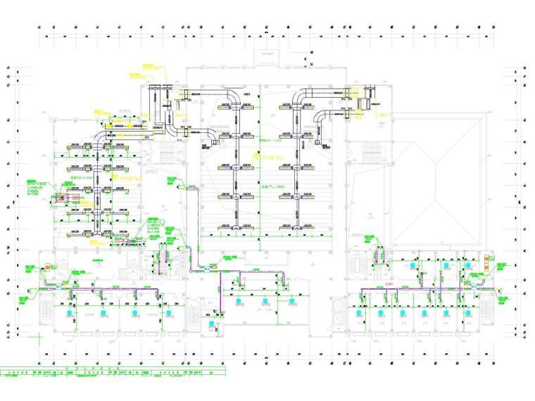[江苏]教育行政综合建筑空调通风及防排烟系统设计施工图