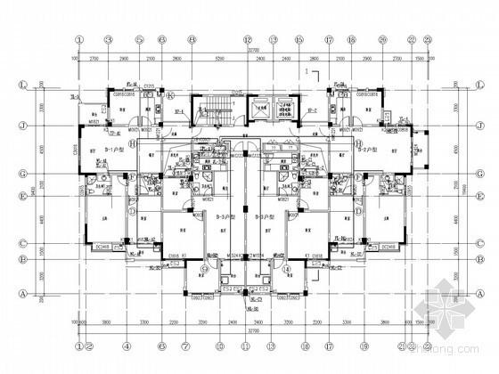 [安徽]高层住宅楼建筑给排水施工图(压力排水)
