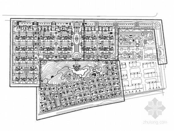 [威海]欧式高档住宅区园林景观工程全套施工图(香港著名公司设计)
