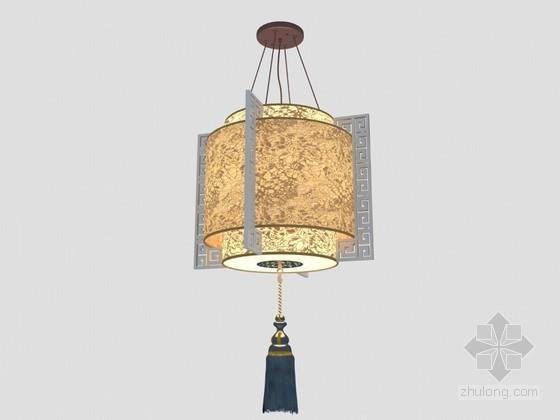 中式吊灯3D模型下载
