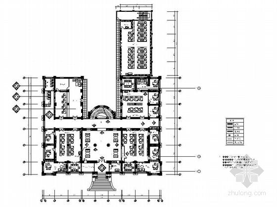 [广州]省级财政税收管理部门现代办公楼装修设计施工图