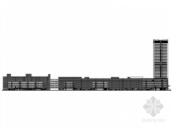 [山东]高层框架核心筒结构连廊式商业综合楼建筑施工图
