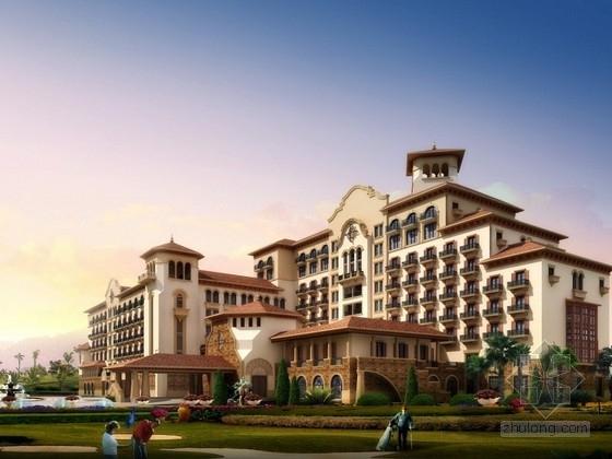 [山东]9层欧式风格酒店建筑设计方案文本