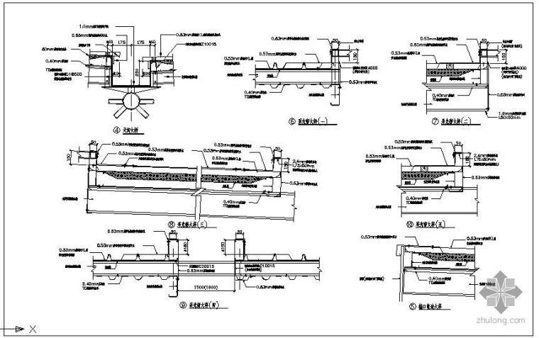 某钢结构天窗设计节点构造详图