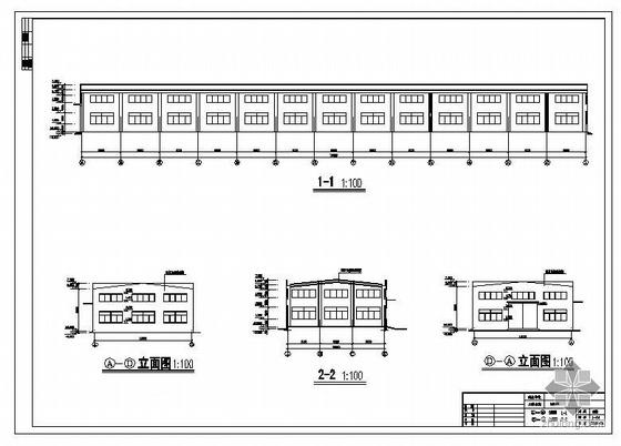 重庆某包装车间建筑结构图