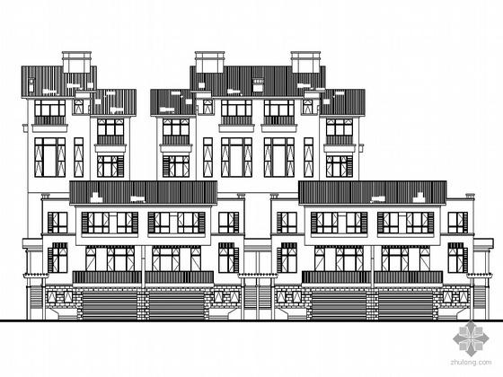 [南京]某海岸项目叠院拼接别墅建筑施工图(D12型)