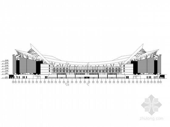 [上海]某体育场立面布线图纸