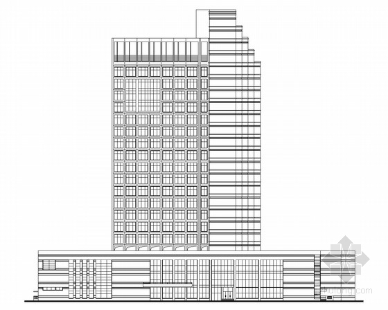 [东莞]某23层办公楼建筑施工图(南京知名设计院设计)