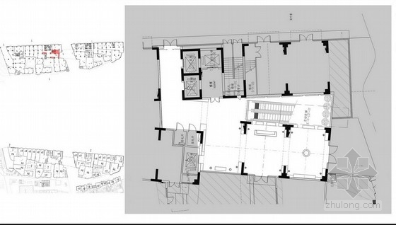 [天津]高档酒店城市客栈室内设计方案图