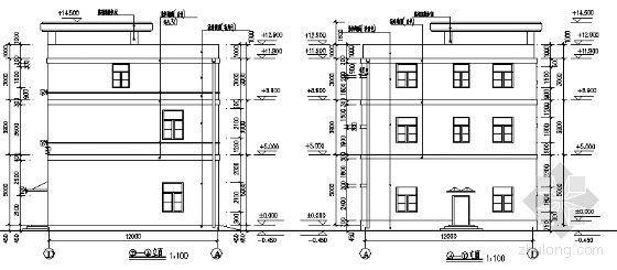 某三层综合楼建筑方案图-2