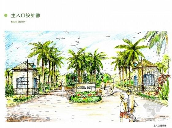 [海南]禅意住宅小区景观设计方案