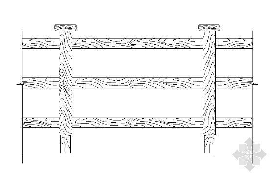 木质栏杆详图