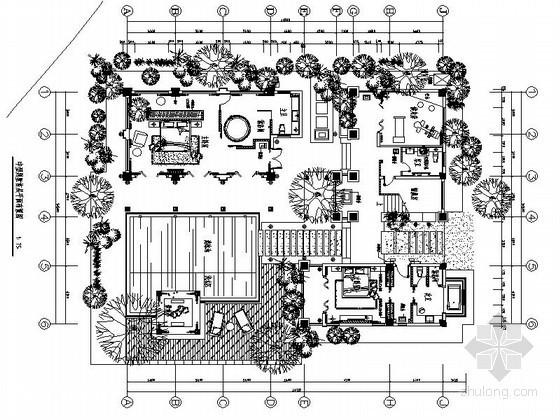 中型中式现代二层别墅装修设计图