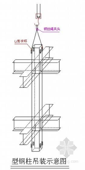 钢结构吊装施工方案(型钢柱、型钢梁、钢桁架)