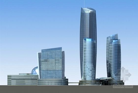 现代风格城市商业综合体设计方案立面图