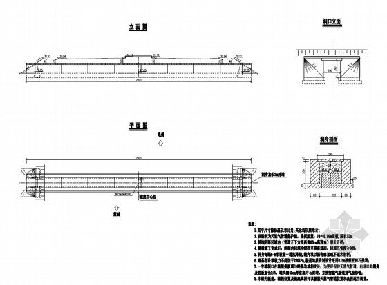 70x0.99m正板天然气管道保护涵设计套图