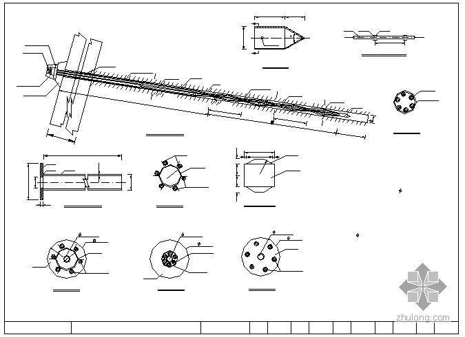 岩石性边坡支护锚索(杆)设计施工图