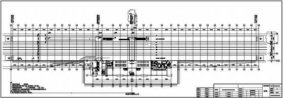 新建包西铁路某车站站台雨棚结构设计图