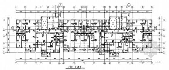 [河南]剪力墙住宅楼结构施工图(17层 筏板基础)