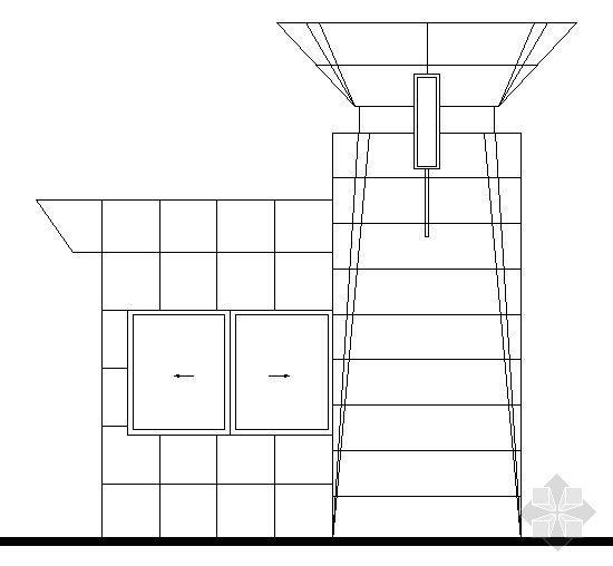 大门传达室结构图