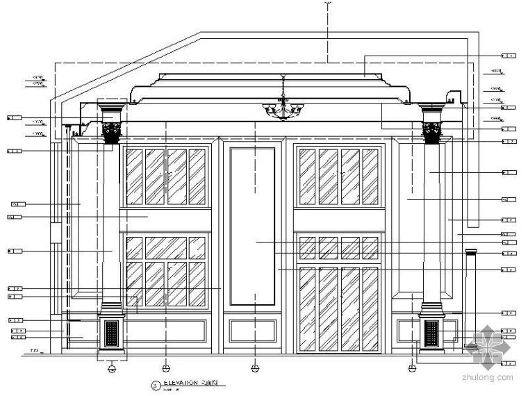 欧式背景立面图II