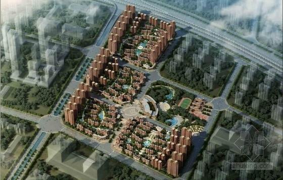 [西安]高层生态化塔式住宅建筑设计方案文本(含三套方案)