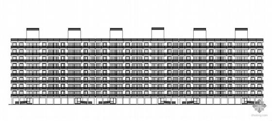 [广州]某大学九层教师公寓建筑结构施工图