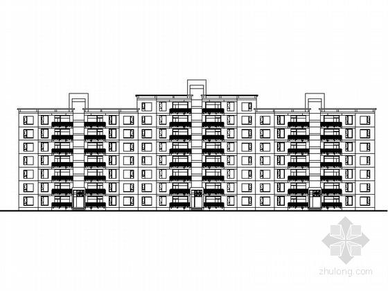[上海]高档板式住宅楼建筑设计方案图
