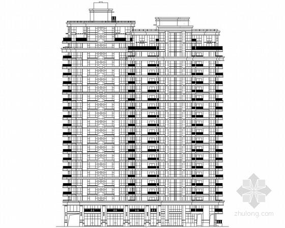 [宁波]某23层欧式风格住宅楼建筑施工图
