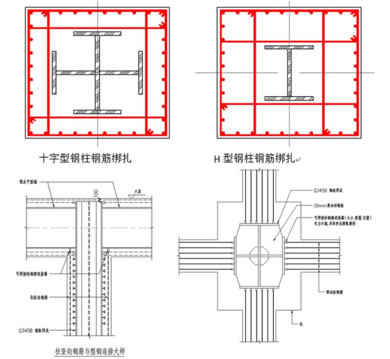 [天津]框架劲性核心筒结构商务区广场项目主体工程施工方案