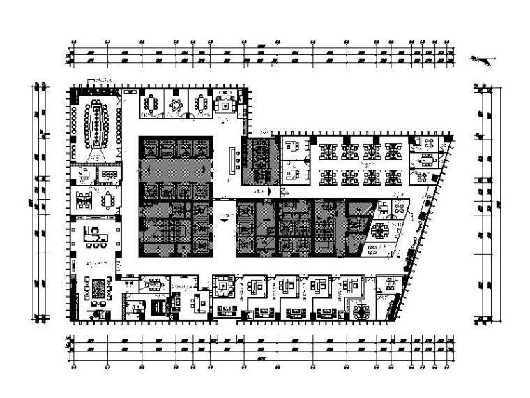 [重庆]现代时尚大气办公室设计施工图(含效果图)