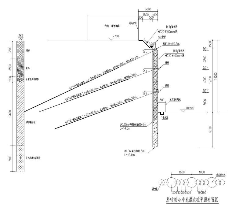 信诺科技园升级改造项目基坑支护工程施工方案(复合土钉墙 桩锚)