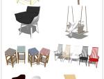 39套北欧风格SU模型【椅子】